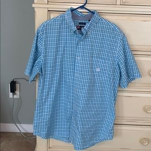 Chaps short sleeved button up